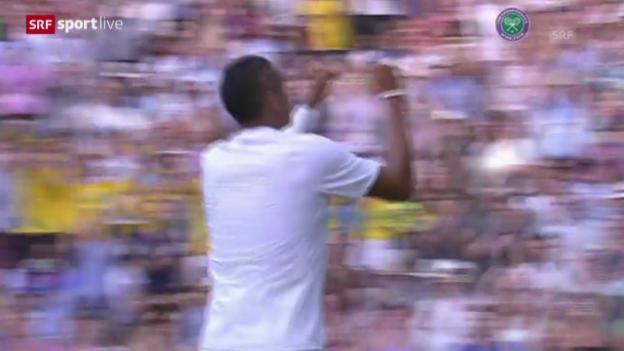 Video «Tennis: Achtelfinal Wimbledon, Kyrgios schaltet Nadal aus» abspielen
