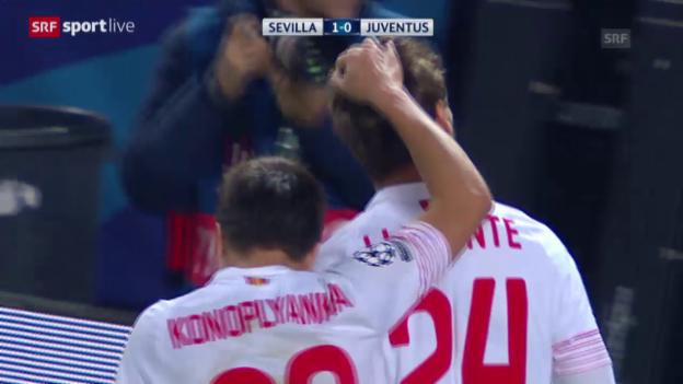 Video «Fussball: Champions League, Zusammenfassung Sevilla-Juventus Turin» abspielen