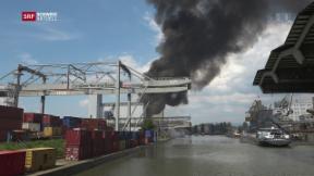 Video «Brand im Basler Rheinhafen» abspielen