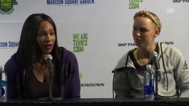 Video «Serena Williams über Scharapowas Doping-Geständnis» abspielen