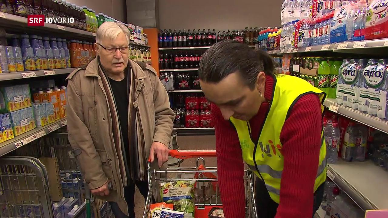 «Die Idee»: Arbeitslose begleiten Senioren beim Einkauf