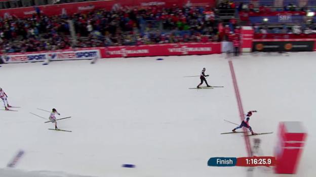 Video «Nordisch-WM: Skiathlon der Männer, die Schlussphase» abspielen