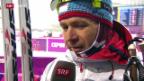 Video «Biathlon: 10 km Sprint Männer, Interview Björndalen («sotschi aktuell», 8.2.2014)» abspielen