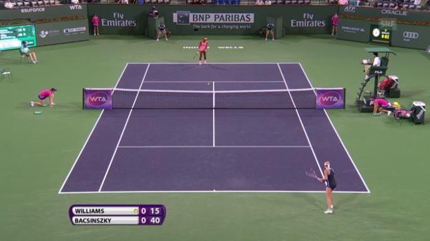 Video «Tennis: Indian Wells, Williams - Bacsinszky» abspielen