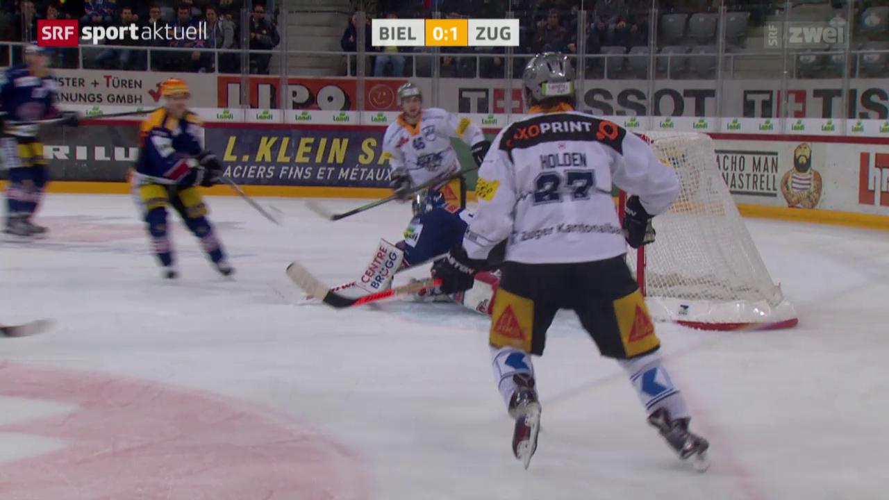 Eishockey: Biel - Zug