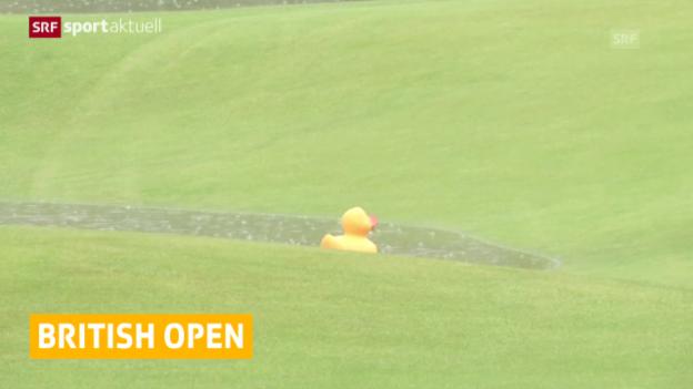 Video «Golf: British Open, 2. Runde wegen Regen verzögert» abspielen