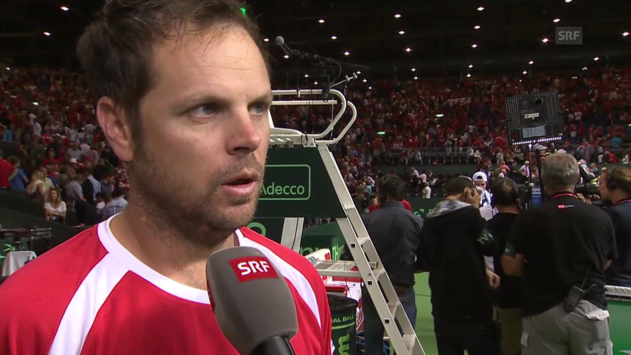 Tennis: Interview Severin Lüthi nach Davis-Cup-Doppel
