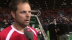 Video «Tennis: Interview Severin Lüthi nach Davis-Cup-Doppel» abspielen
