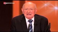 Video «Reich-Ranicki lehnt Deutschen Fernsehpreis für sein Lebenswerk ab. (Tagesschau vom 13.10.2008)» abspielen