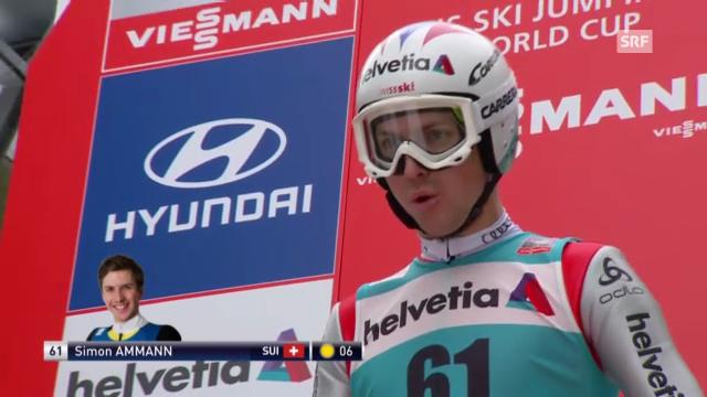 Skispringen: 1. Sprung von Simon Ammann