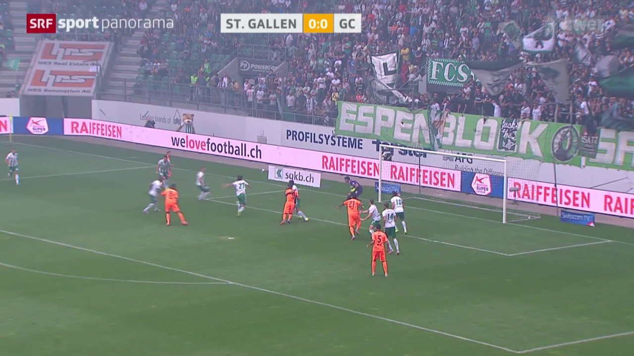 Fussball: Super League, St. Gallen - GC