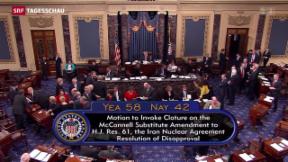 Video «US-Senat sagt JA zu Iran-Abkommen» abspielen