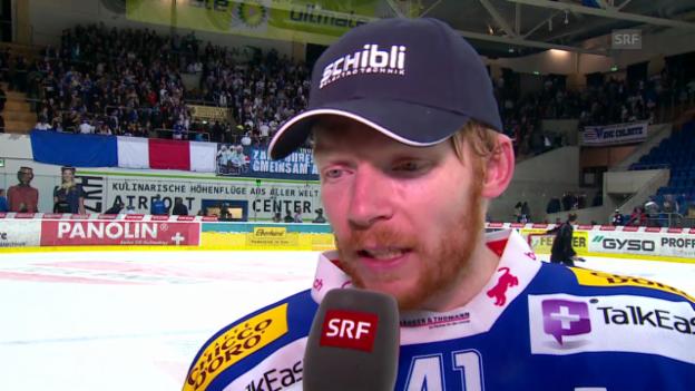 Video «Eishockey: Interview mit Kloten-Stürmer Michael Liniger» abspielen