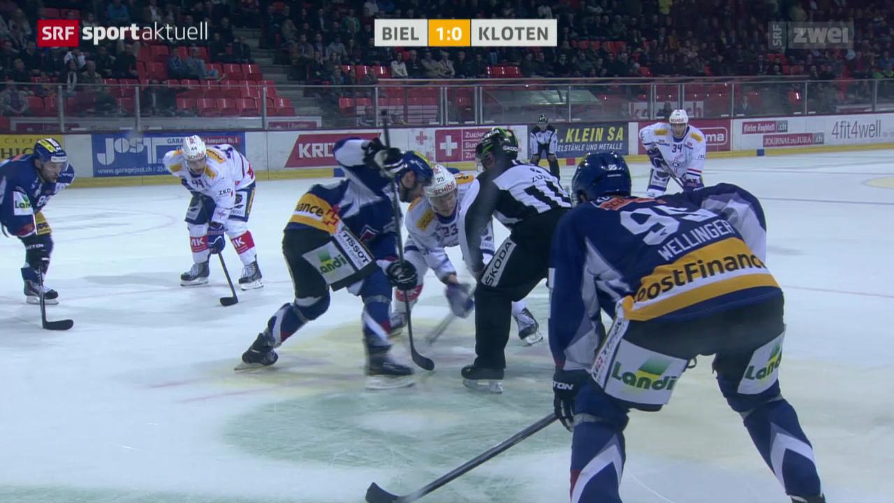 Eishockey: NLA, EHC Biel - Kloten Flyers