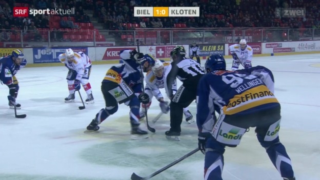 Video «Eishockey: NLA, EHC Biel - Kloten Flyers» abspielen