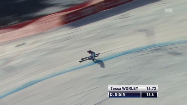 Video «Der 1. Lauf von Dominique Gisin («sportlive», 15.12.2013)» abspielen