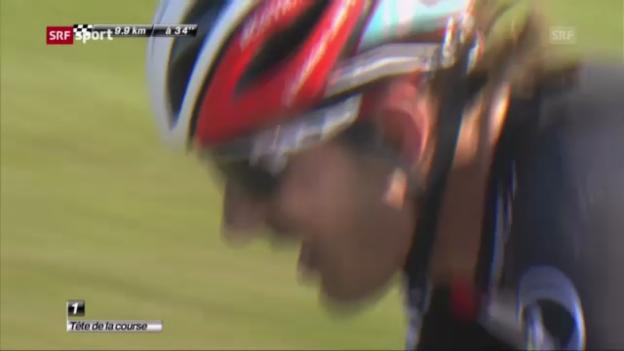 Video «Cancellara macht in Roubaix das Klassikerdouble klar» abspielen