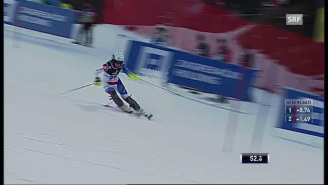 Slalom Zagreb: 1. Lauf Holdener