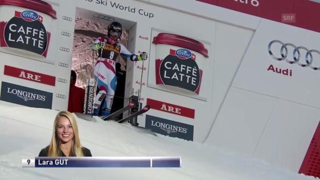 Video «Ski Alpin: 2. Lauf von Lara Gut» abspielen