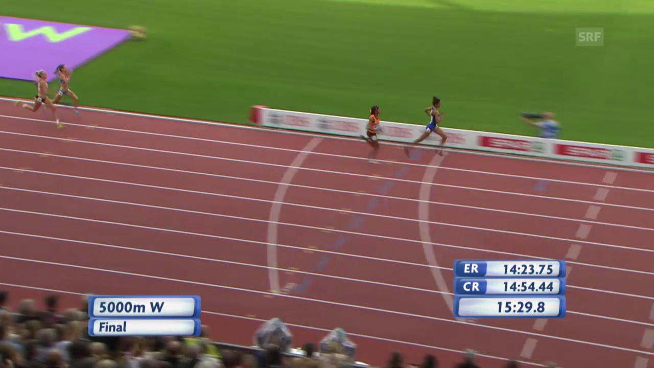 Leichtathletik-EM: Schlussphase 5000 m Frauen