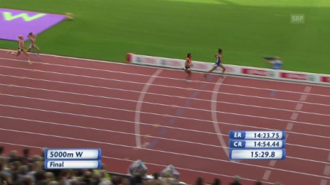 Video «Leichtathletik-EM: Schlussphase 5000 m Frauen» abspielen