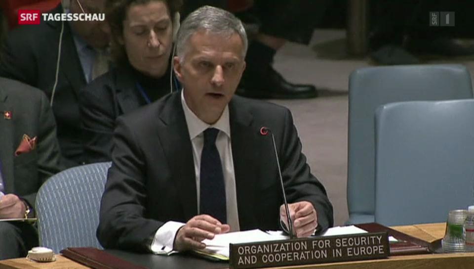 Burkhalter präsentiert dem UNO-Sicherheitsrat einen Lösungsvorschlag zur Ukraine