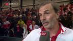Video «Heinz Günthardt und Martina Hingis zu Tag 1 am Fed Cup» abspielen