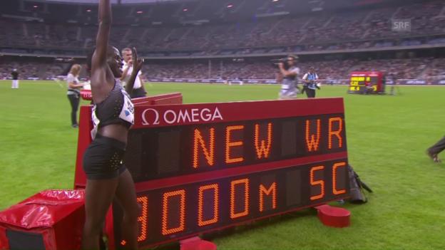 Video «Jebet pulverisiert Steeple-Weltrekord» abspielen