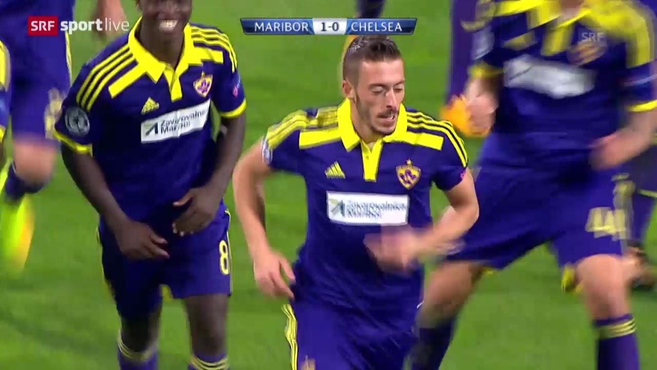 Fussball: Zusammenfassung Maribor - Chelsea