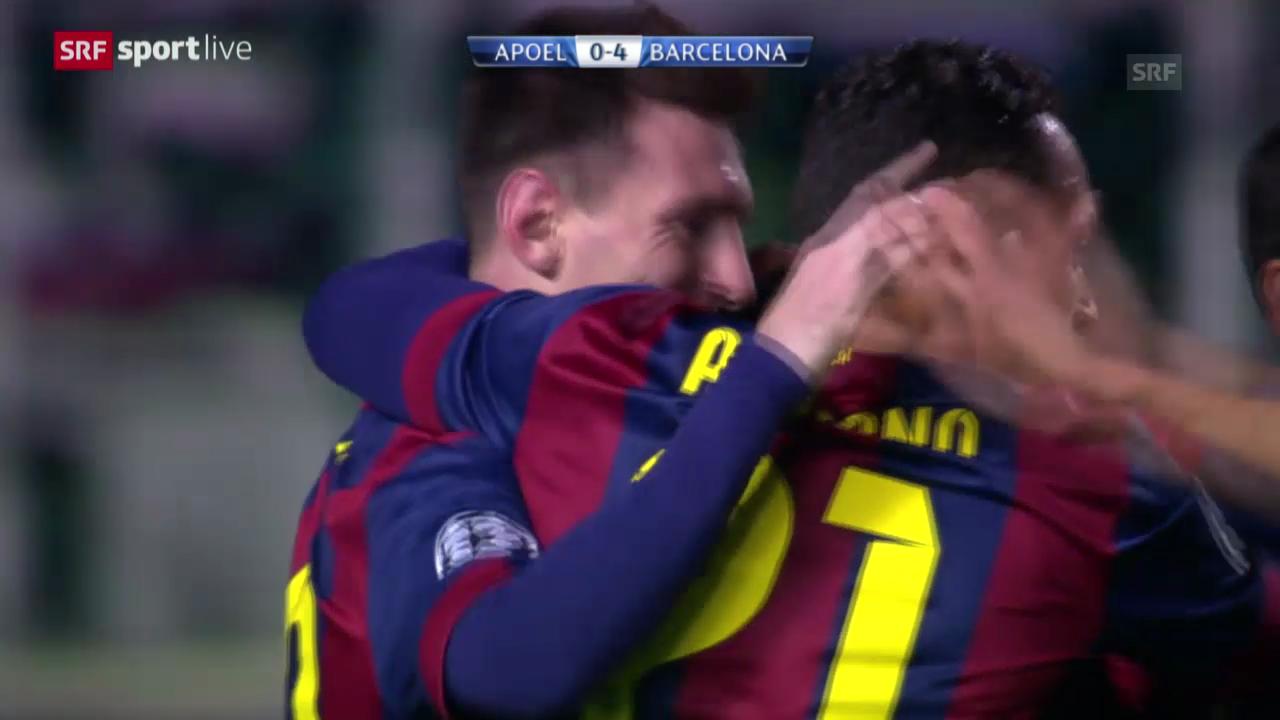 Fussball: Champions League, APOEL Nikosia - Barcelona