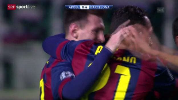 Video «Fussball: Champions League, APOEL Nikosia - Barcelona» abspielen