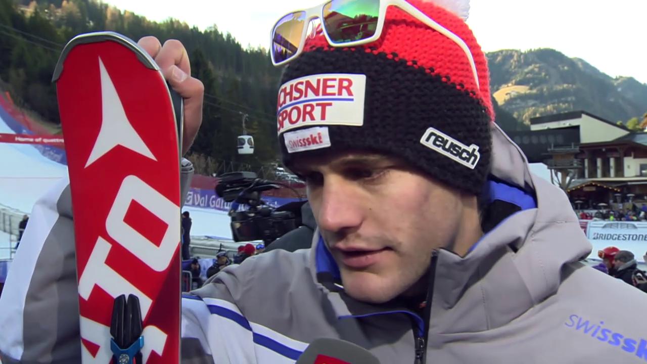 Ski: SG Gröden, Interview Tumler