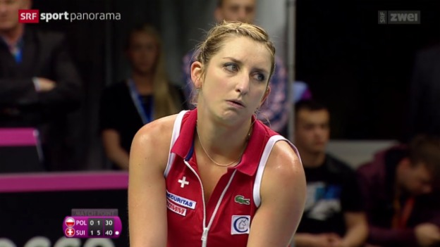 Video «Tennis: Fedcup, Polen-Schweiz, Bacsinszky - Radwanska» abspielen