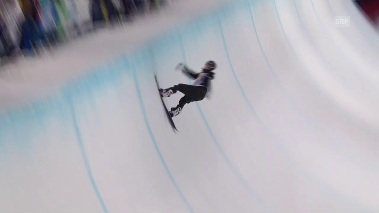Snowboard: Freestyle-WM in Kreischberg, Final Halfpipe, 3. Run Scherrer
