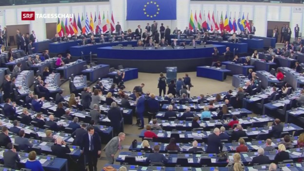 Video «Europäisches Parlament rügt Martin Schulz» abspielen