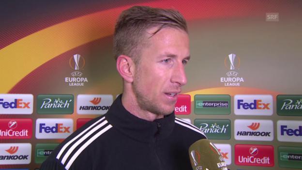 Video «Basels Marc Janko äussert sich zur Niederlage gegen St. Etienne» abspielen
