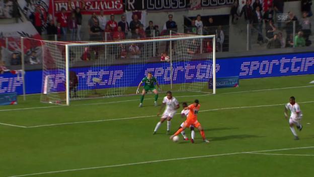 Video «Fussball: Super League, 13. Runde, Sion - GC, das Traumsolo von Munas Dabbur zum 2:0» abspielen