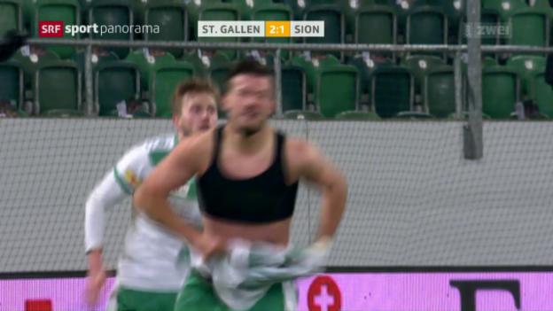 Video «Ajeti schiesst St. Gallen zum Sieg» abspielen