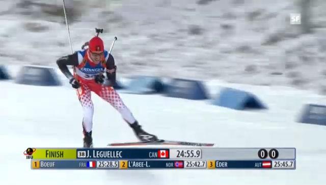 Biathlon: Jean Philippe Leguellec auf dem Weg zu seinem 1. Weltcupsieg («sportlive»)