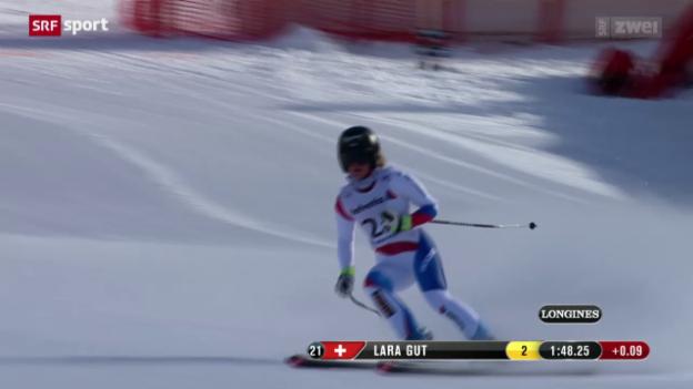 Video «Ski: WM-Abfahrt Frauen, 1. Training» abspielen