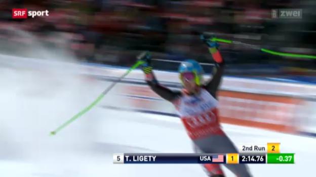 Video «Ski: Riesenslalom Männer auf der Lenzerheide» abspielen