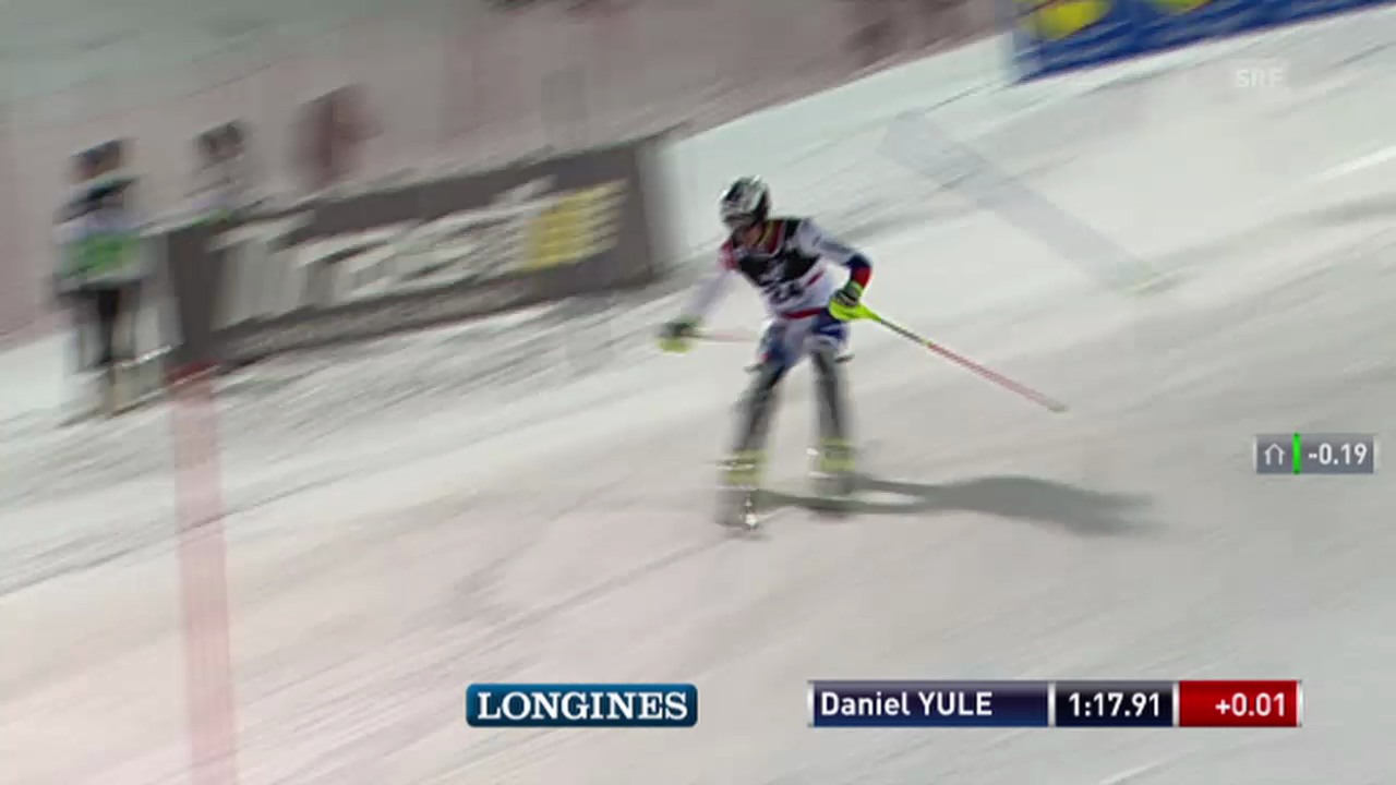 Si alpin: Slalom von Zagreb, 2. Lauf Daniel Yule