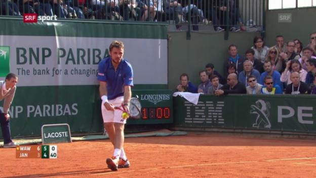 Video «French Open: Wawrinka - Janowicz («sportaktuell»)» abspielen