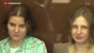 Video «Pussy Riot frei und noch lange nicht ruhig» abspielen