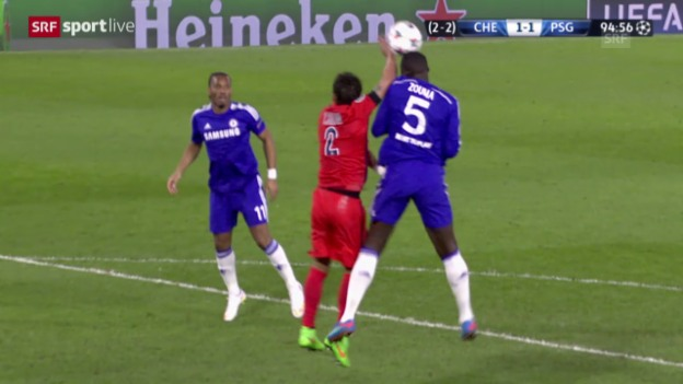 Video «Fussball: Champions League, Achtelfinal-Rückspiel, Chelsea-PSG, die Szenen von Thiago Silva» abspielen