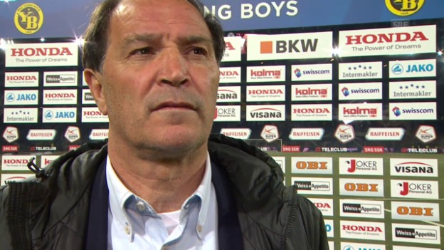 Video «Fussball: Super League, YB-Aarau, Interview Raimondo Ponte» abspielen