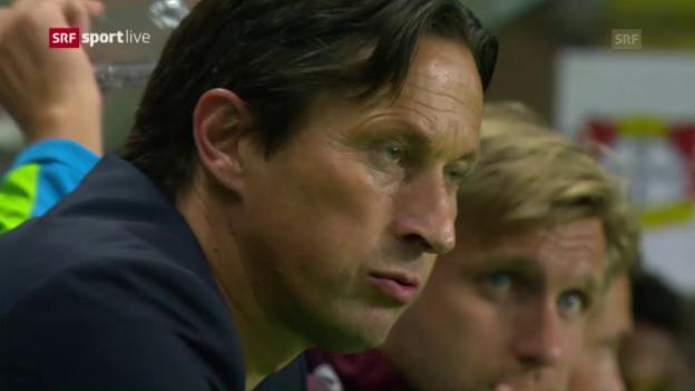 Video «Auf den letzten Drücker kommt Monaco gegen Bayer zu Remis» abspielen