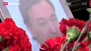 Video «Russischer Prozess gegen Toten vertagt» abspielen