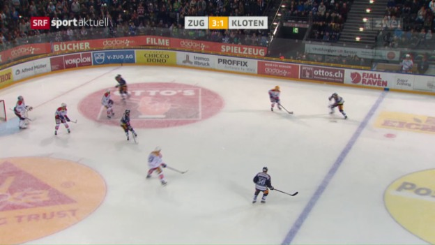 Video «Zug feiert den 6. Sieg im 6. Heimspiel» abspielen