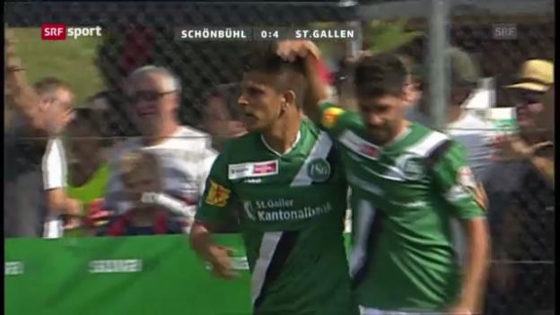 Video «Cup: Schönbühl-St. Gallen («sportpanorama»)» abspielen